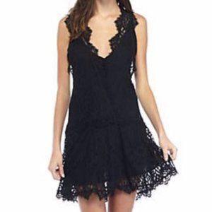 NWT Free People Black Lace Mini Dress S